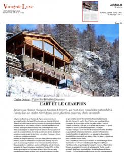 Article voyage de luxe