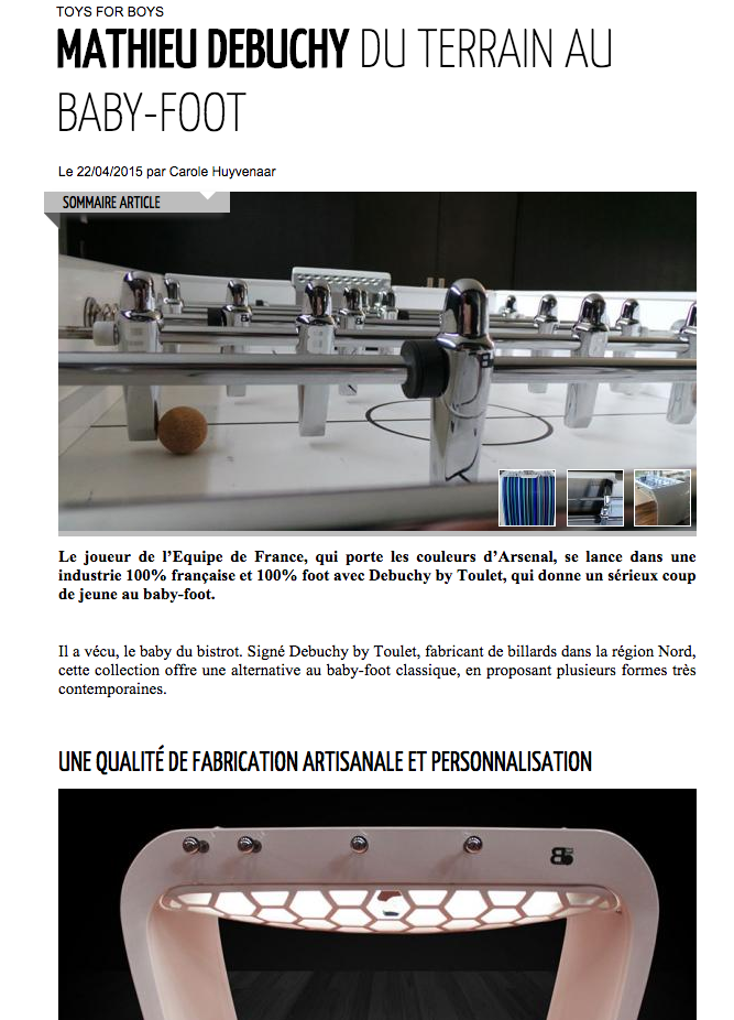 Baby-foot de Debuchy by Toulet - Article Mensup.fr - Avril 2015
