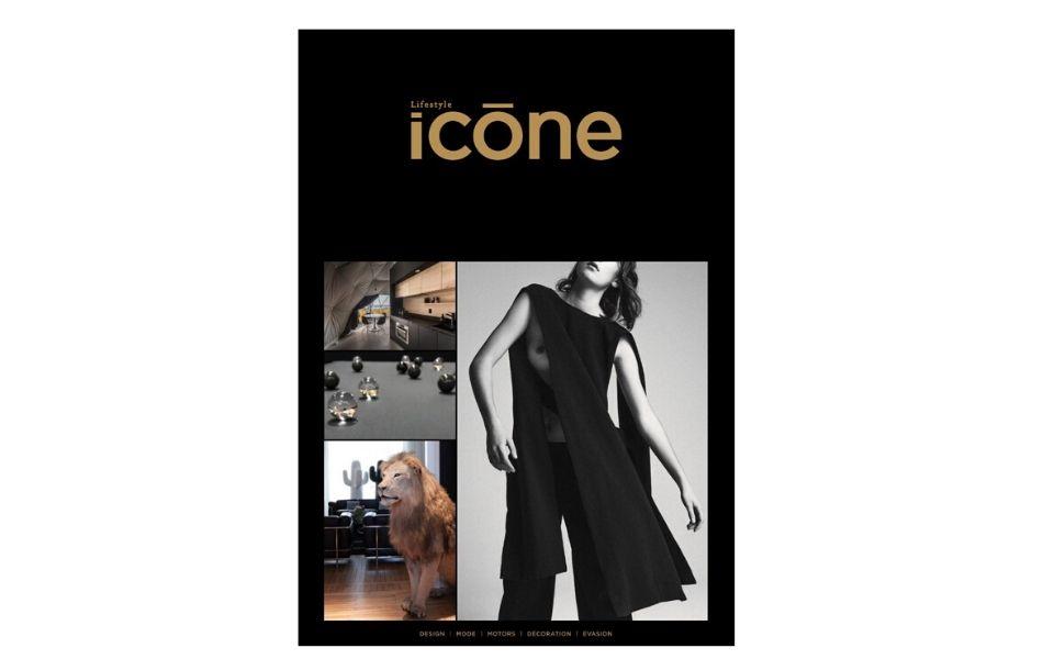 Le baby-foot en verre Carat est à l'honneur dans le magazine Icone.