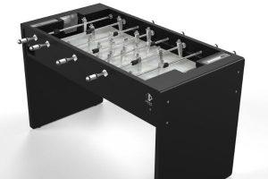 Baby-foot T11 moderne noir - fond de jeu gris - Babyfoot Toulet