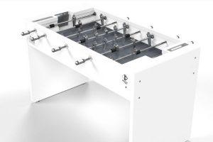 Babyfoot T11 moderne blanc fond de jeu gris - Debuchy By Toulet