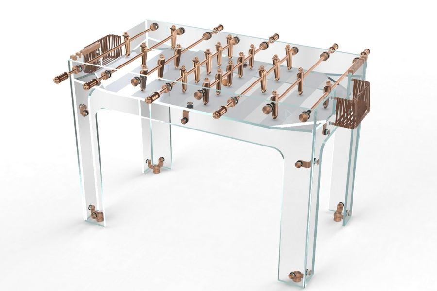 Babyfoot luxe en verre et cuivre - Carat - Debuchy By Toulet