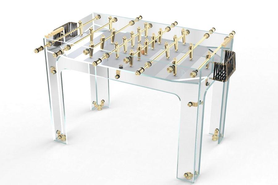 Babyfoot luxe en verre et Gold - Carat - Debuchy By Touet
